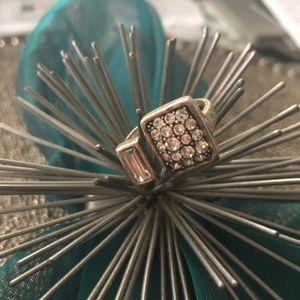 Silpada Crystal Cuff Ring R3404